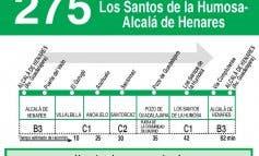 La línea 275 unirá por fin Alcalá de Henares y Pozo de Guadalajara