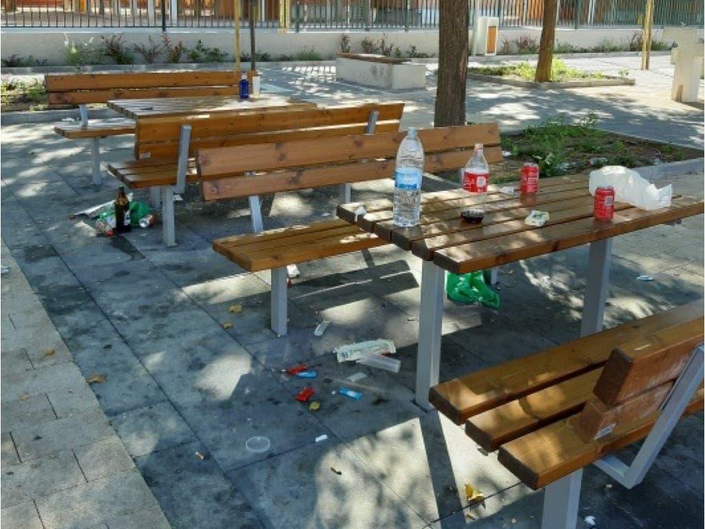 Vandalismo nocturno en un parque recién inaugurado en Alcalá de Henares