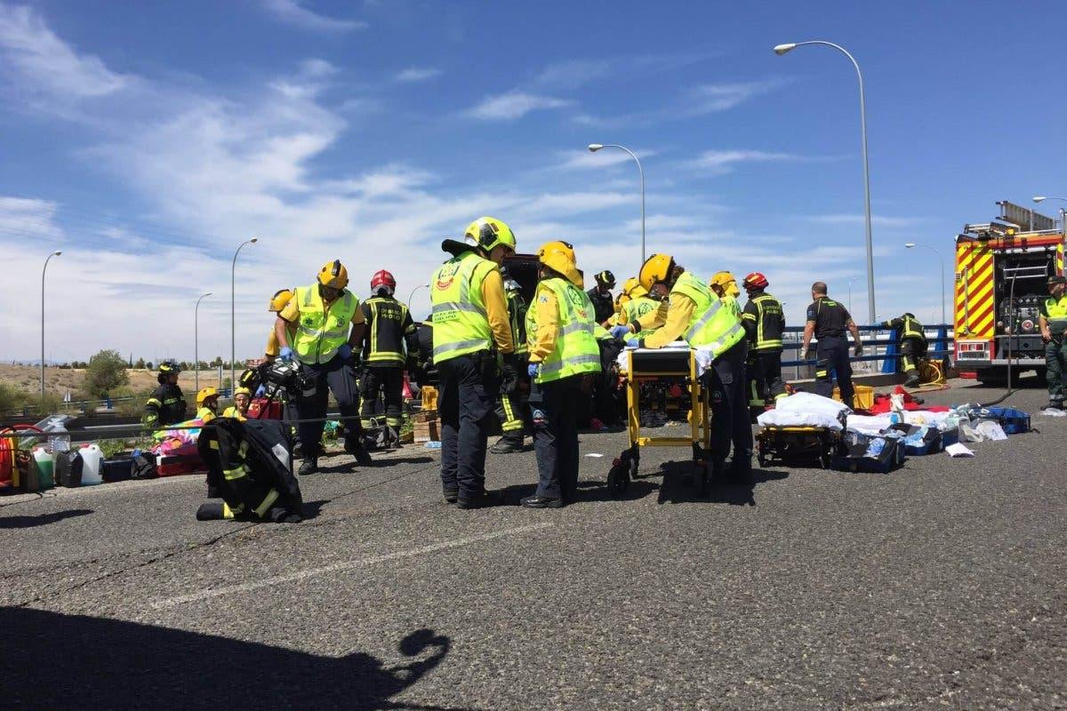 Un muerto y dos niñas heridas en un accidente en la M-45