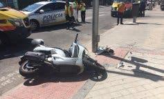 Grave accidente de moto en Ciudad Lineal