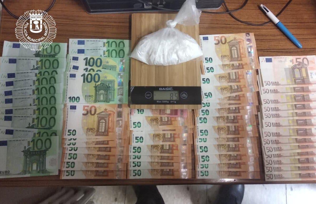 Detenido cerca de Gran Vía con85 gramos de cocaína