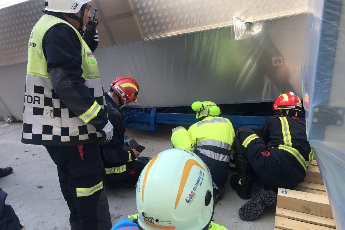 Grave accidente laboral en Algete