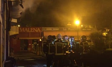 Un incendio calcinó un local de hostelería en Madrid