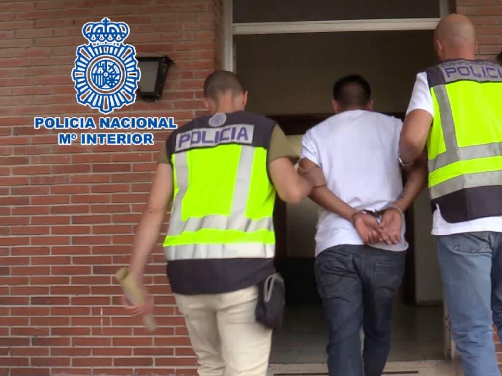 La Policía Nacional detiene en Madrid a 17 integrantes de bandas latinas