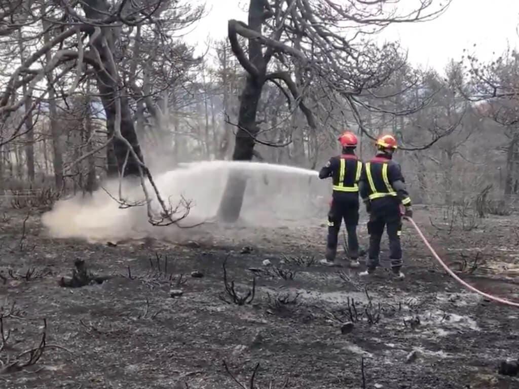 Controlados los incendios de La Granja y Miraflores en Madrid