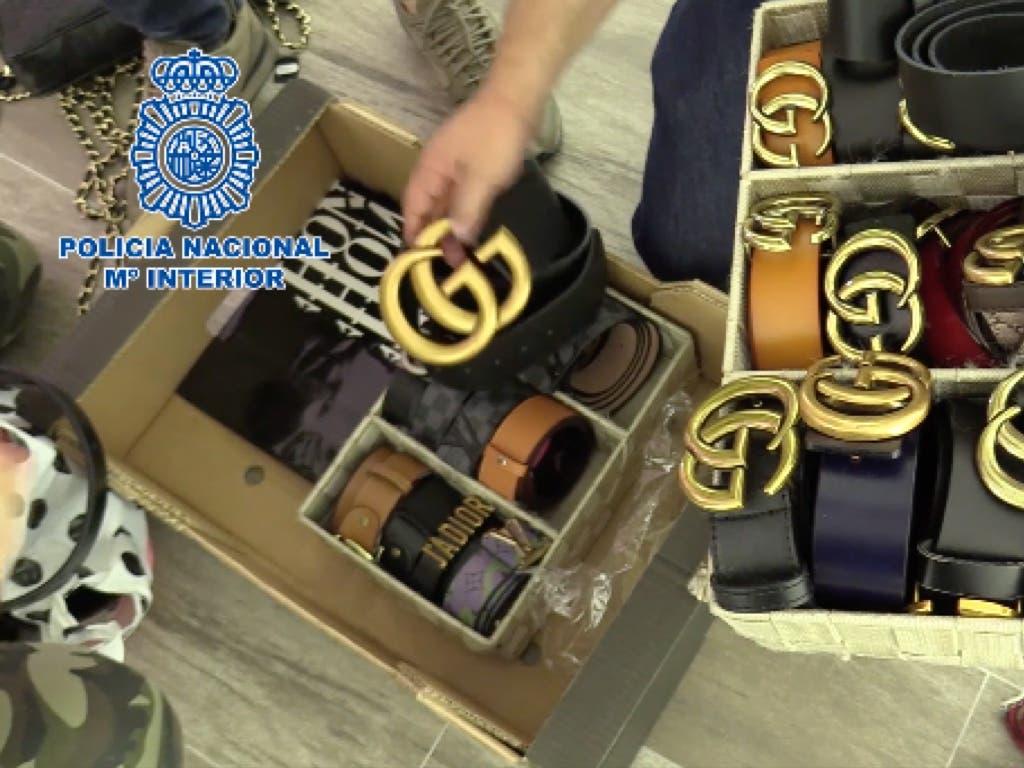 Desmantelada en Madrid una red de falsificación de marcas de lujo
