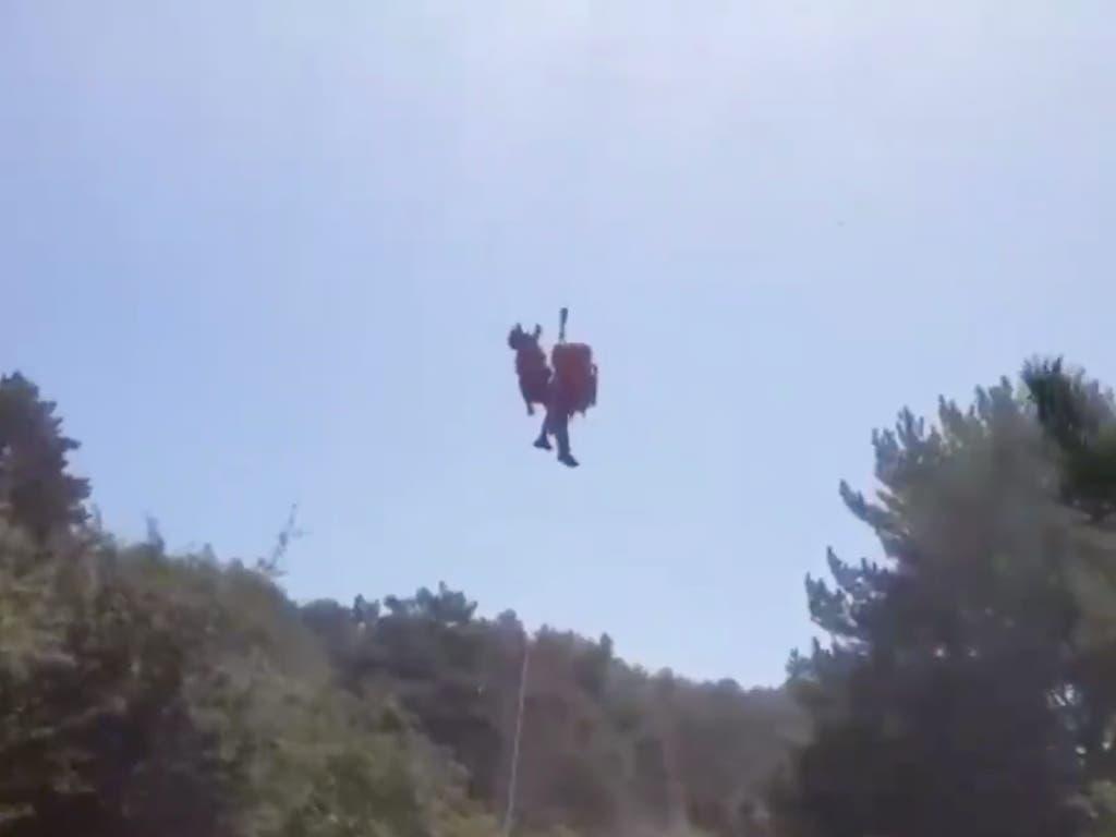 Rescatado un anciano herido cuando practicaba senderismo en Cercedilla