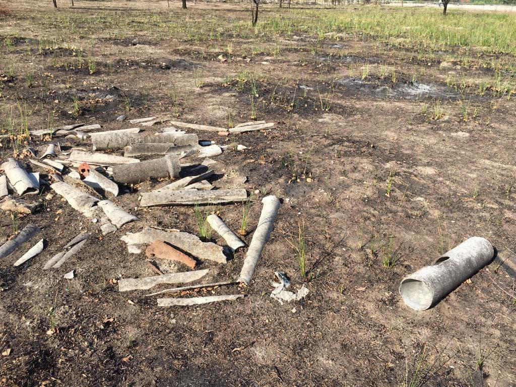 El incendio del Humedal de Coslada deja al descubierto residuos de amianto