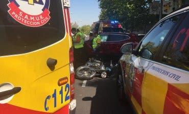 Muere un motorista en un accidente en la calle Alcalá