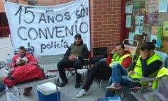 Encierro de policías locales en Coslada por un nuevo convenio laboral