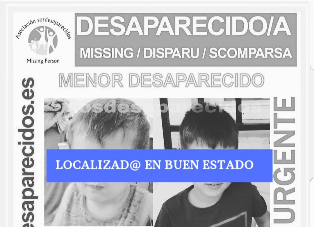 Encuentran a los dos niños desaparecidos el 2 de octubre en Alovera