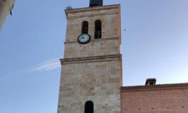 Así luce la torre de la iglesia de Torrejón tras la reforma