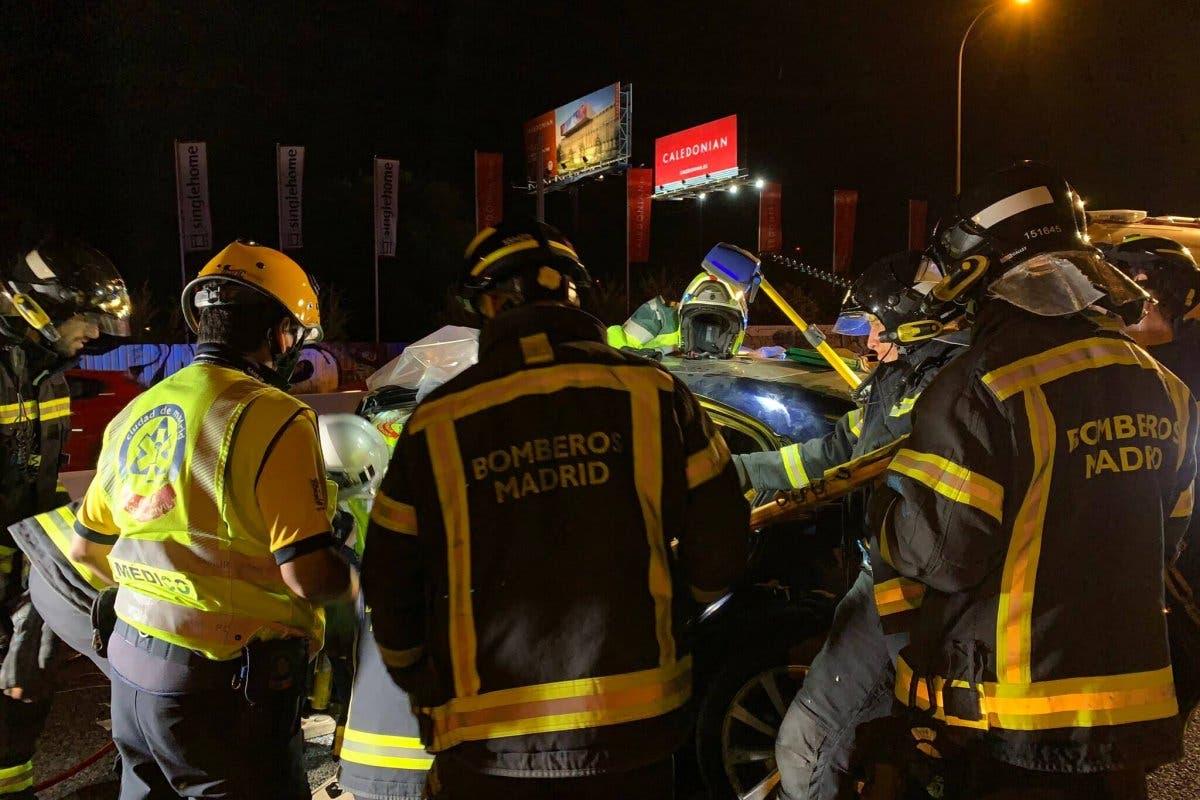 Ocho heridos en un accidente en el Bus-VAO de la A-6