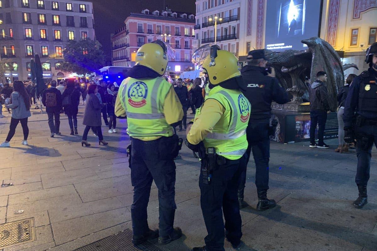 La protestas independentistas en Madrid dejan 26 heridos, 11 de ellos policías