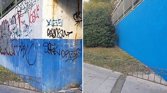 Coslada elimina más de 200 grafitis de sus calles