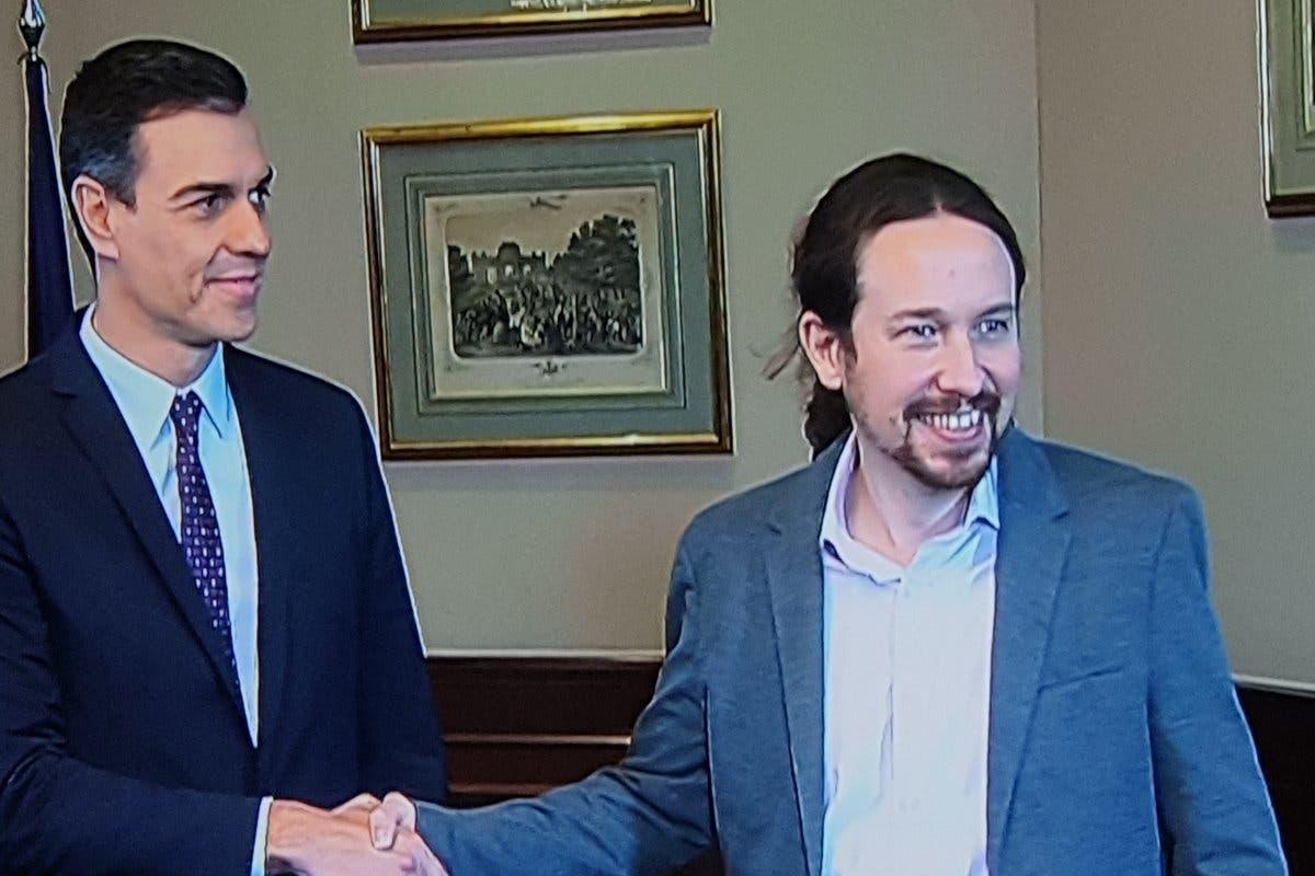 Pedro Sánchez y Pablo Iglesias anuncian un principio de acuerdo para gobernar
