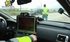 Cazado un motorista que circulaba a 194 km/h por una comarcal en Guadalajara