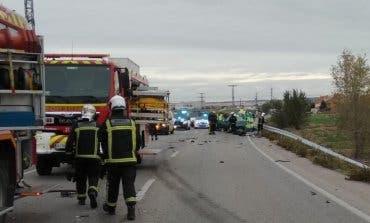 Dos muertos en un accidente múltiple en Torrejón de Velasco