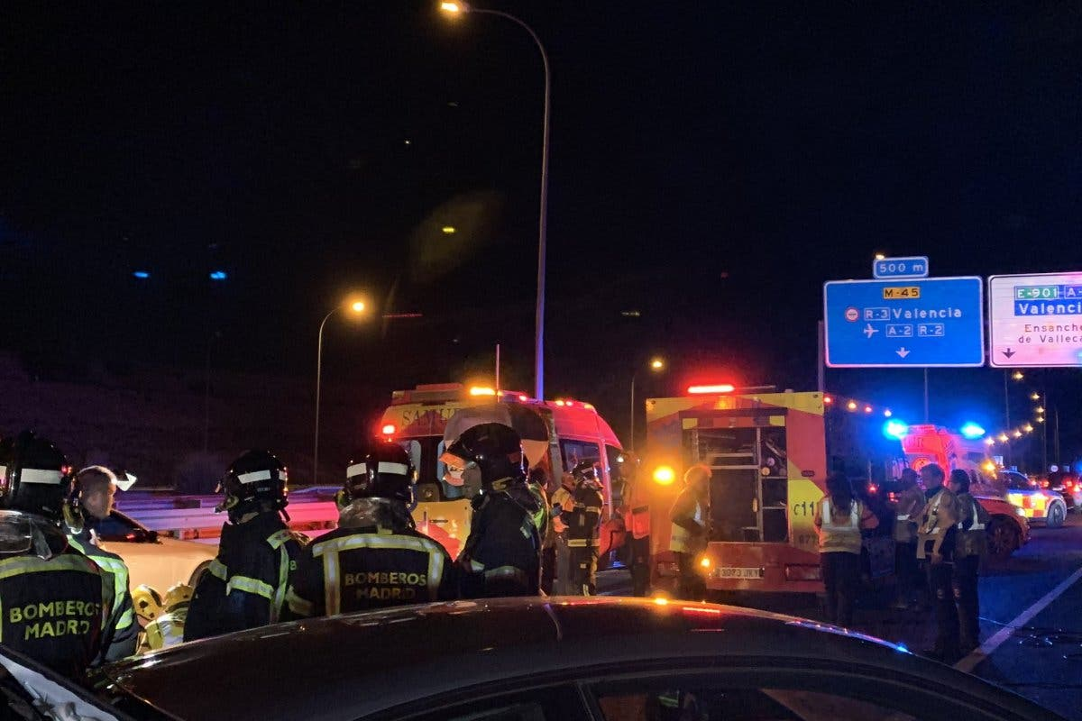 Muere un hombre en un accidente en la M-45