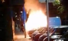 Arde una furgoneta estacionada en Torrejón de Ardoz