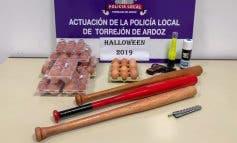 La Policía de Torrejón incautó huevos y bates de béisbol en Hallowen