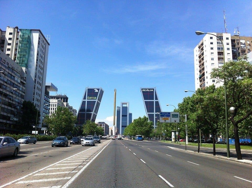 Madrid tendrá un carril bici segregado en el Paseo de la Castellana
