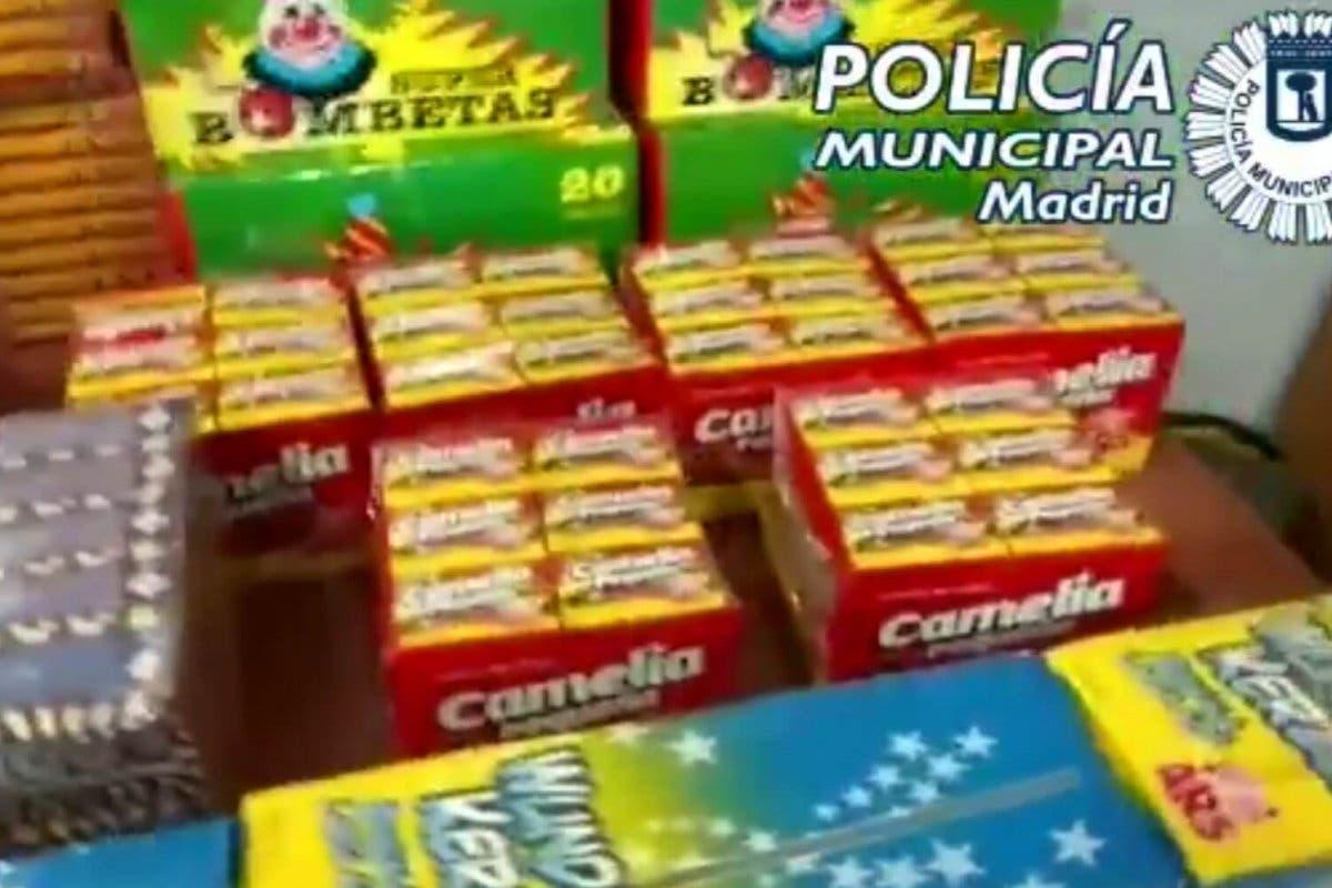 Intervenidos en Madrid más de 55.000 artículos pirotécnicos para vender estas Navidades