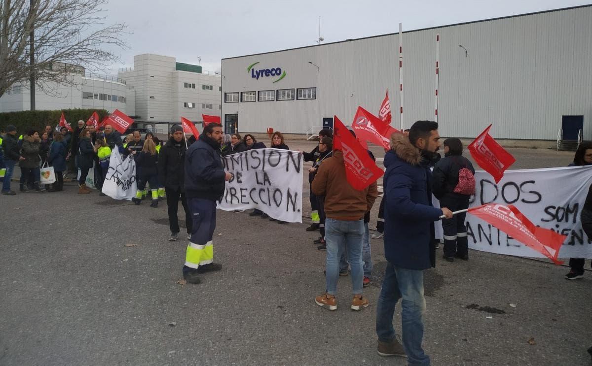 Huelga indefinida en la planta de Lyreco en Alovera