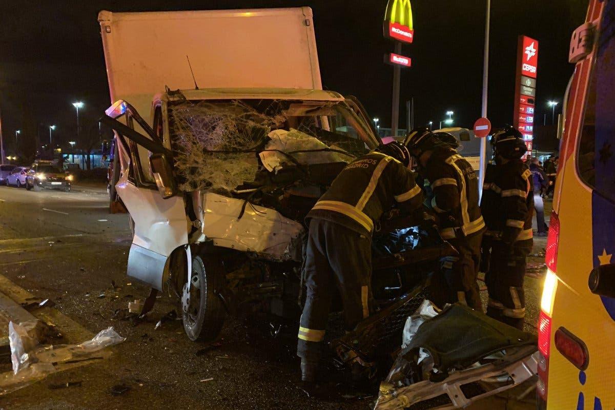 Un conductor drogado y sin carnet provoca un grave accidente en Madrid
