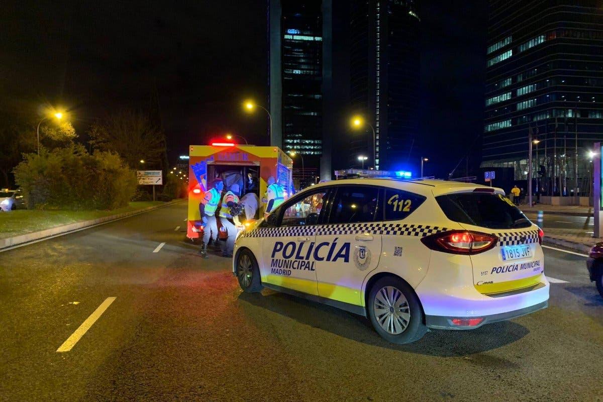 Herido muy grave un motorista en el Paseo de la Castellana