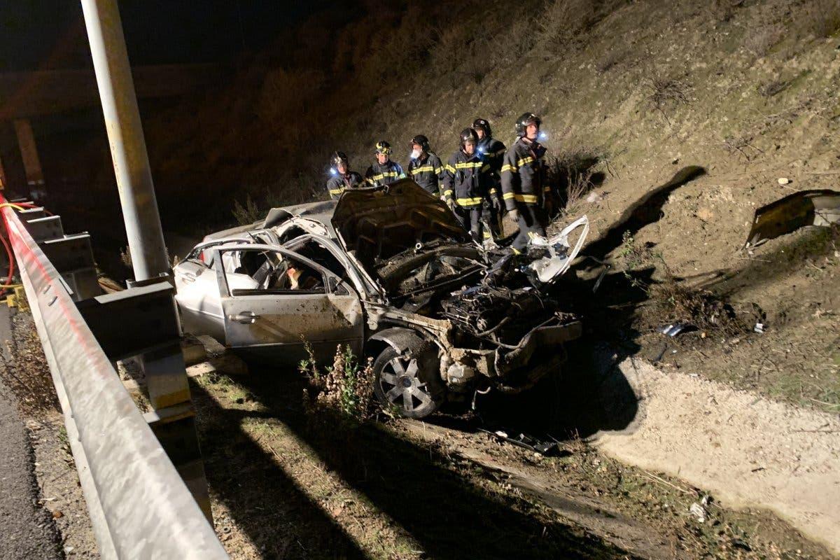 Mueren tres jóvenes en un accidente en la M-50