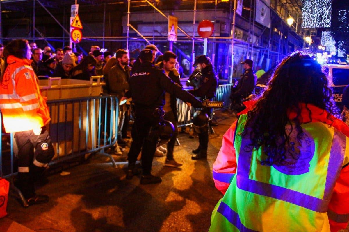 Cuatro filtros policiales para acceder a la Puerta del Sol en Nochevieja