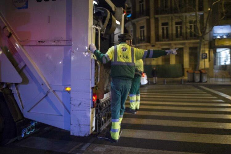 No habrá recogida de basura en Madrid en Nochevieja ni la mañana de Año Nuevo