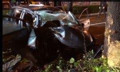 Seis heridos al chocar su coche contra un árbol en Alcalá de Henares