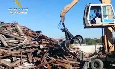 Hallan en San Fernando de Henares35 toneladas de vías de tren robadas