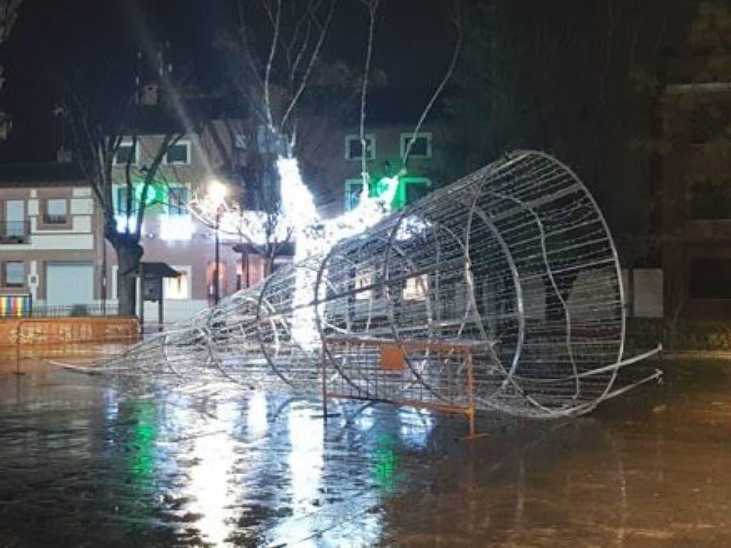 El viento provoca algunos incidentes en el Corredor del Henares que sigue en alerta