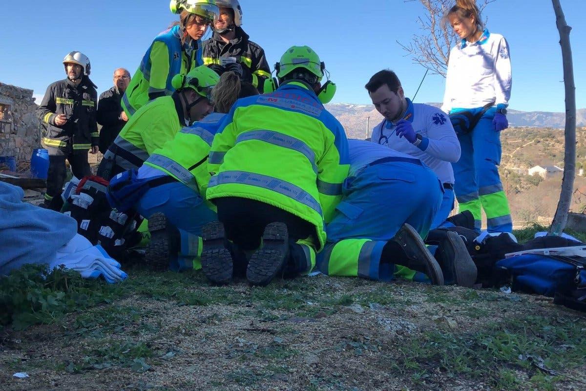 Un joven muerto y tres intoxicados graves en una casa rural de Colmenar Viejo