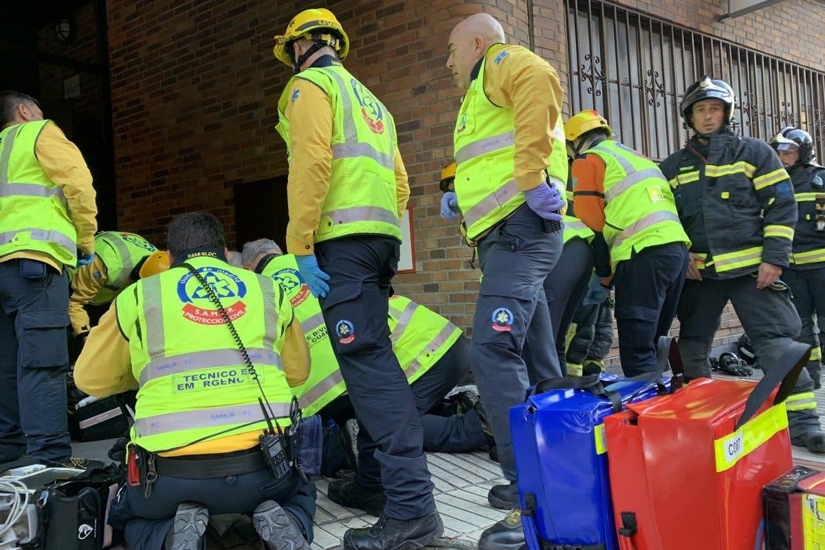 Muere una anciana tras incendiarse su piso en Madrid