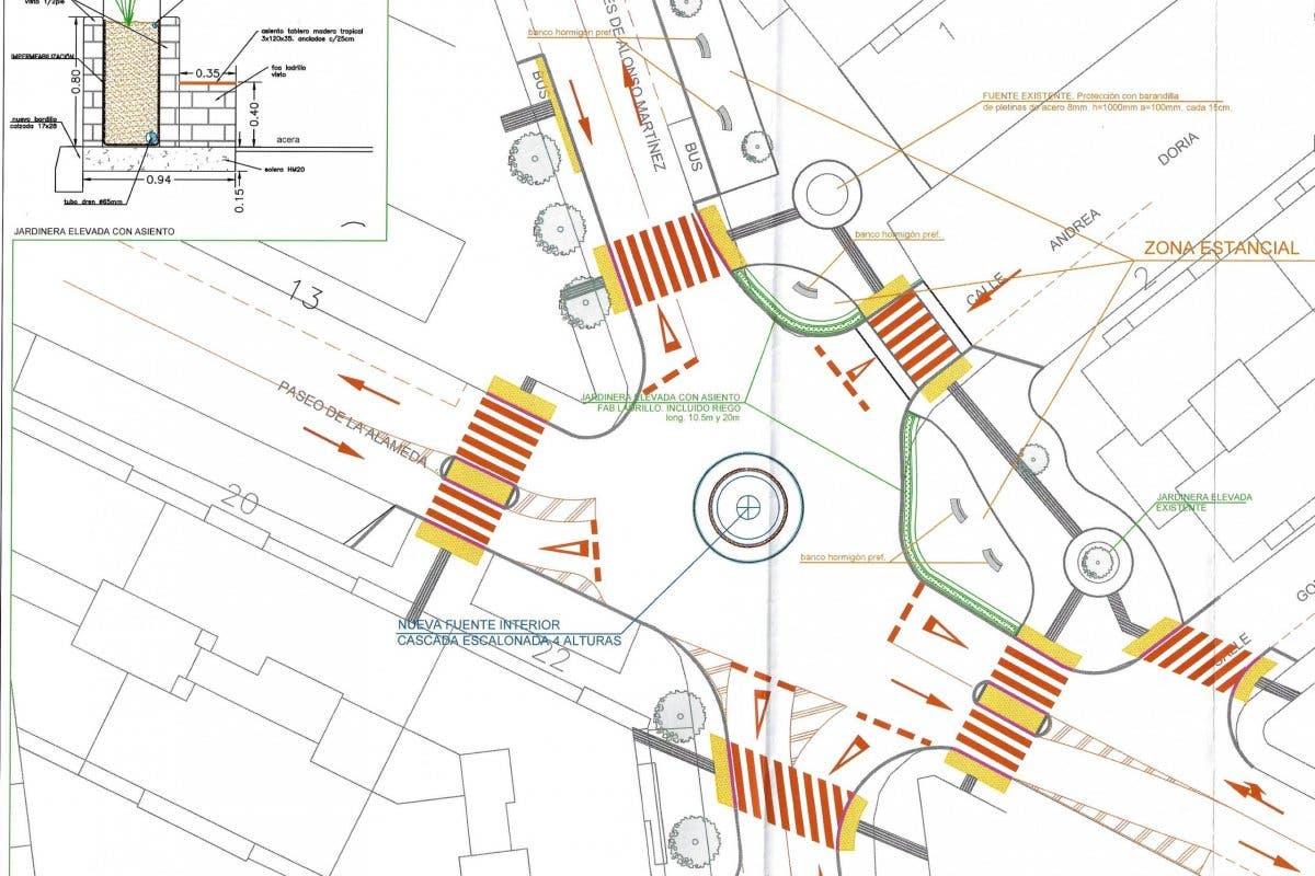 Alcalá de Henares comienza la construcción de una nueva rotonda