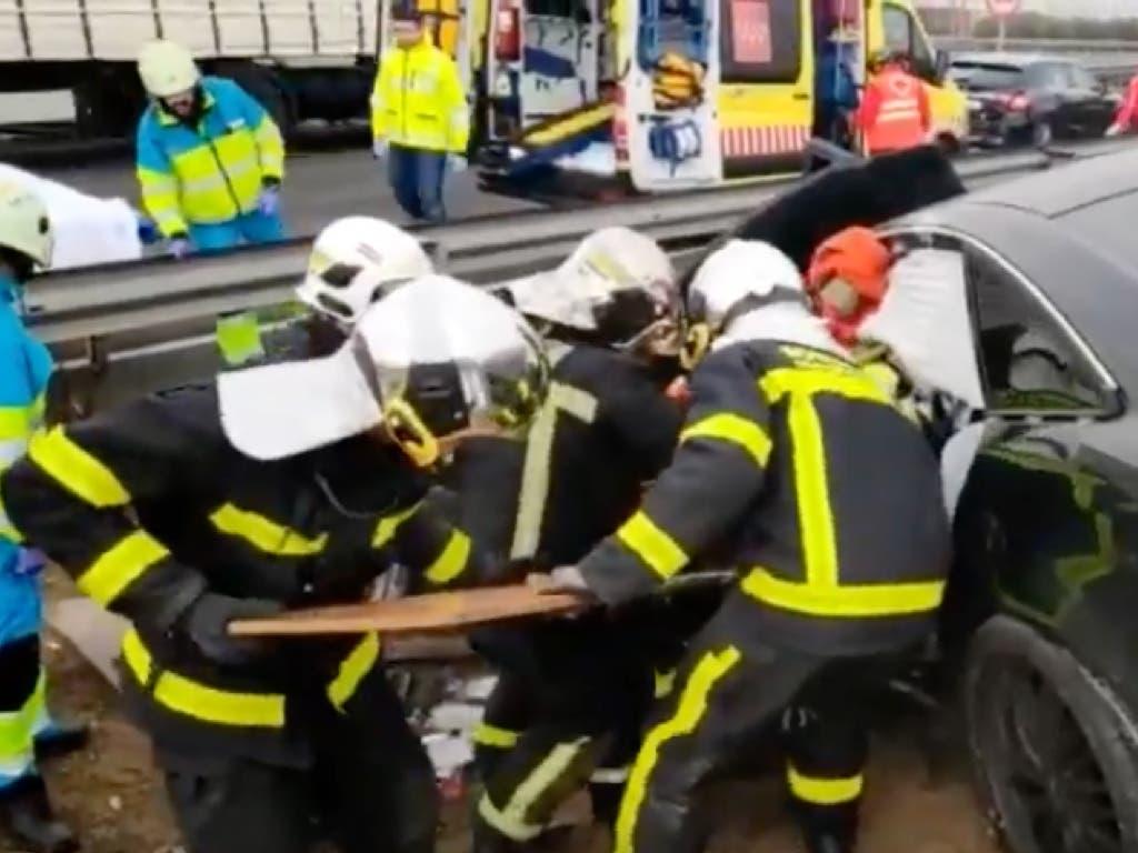 Herido grave un conductor en la M-50, en San Fernando de Henares
