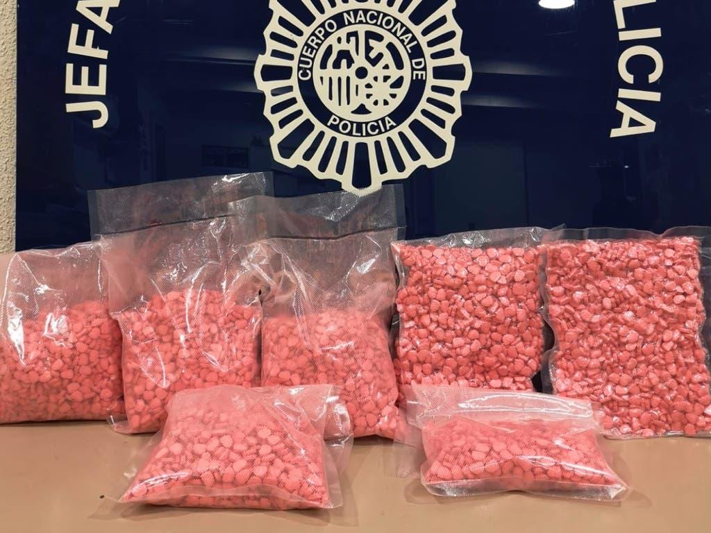 Interceptadas más de 20.000 pastillas de éxtasis rosa en la Estación Sur de autobuses