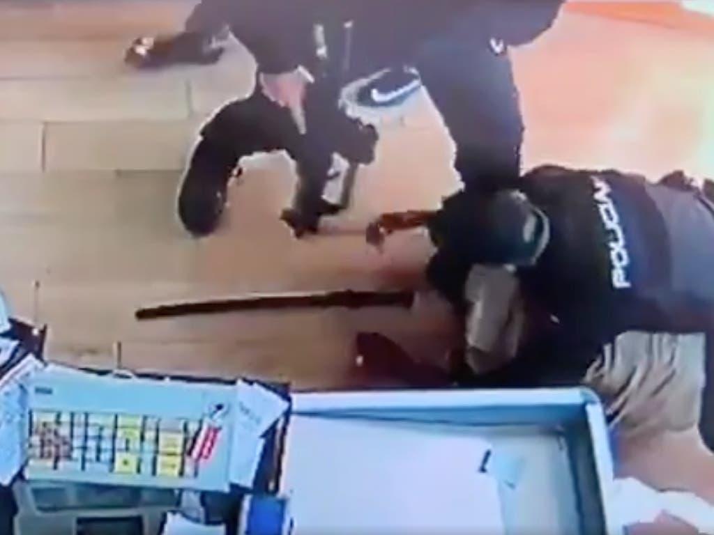 Espectacular intervención policial para impedir el atraco a un supermercado en Madrid