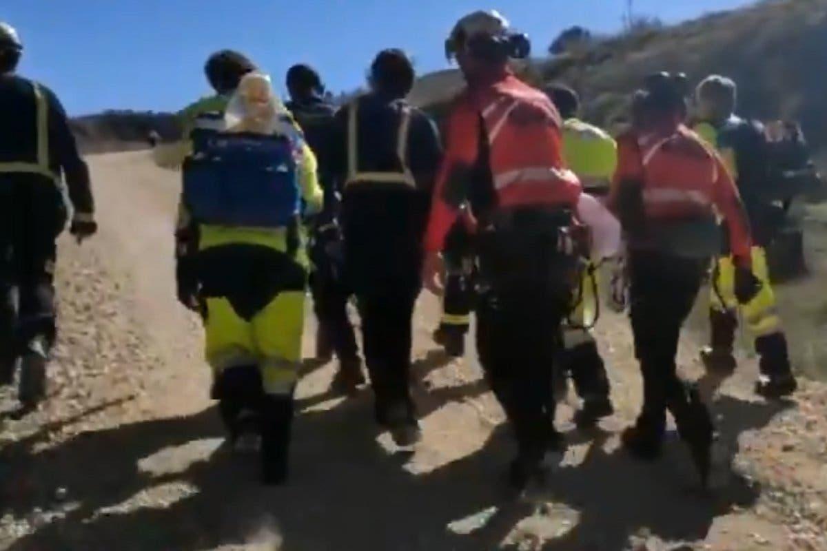 Rescatan a un ciclista herido en Alcalá de Henares