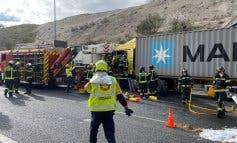 San Fernando de Henares: Cortada la M-50 por un aparatoso accidente