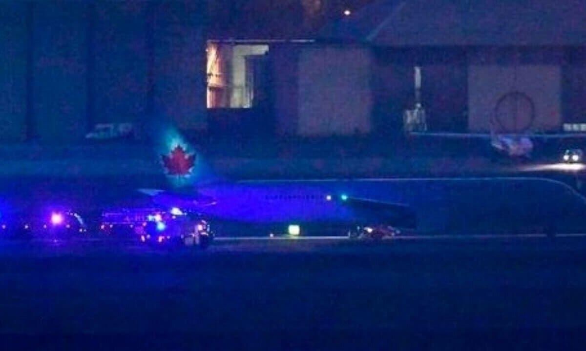 Aterriza con éxito en Barajas el avión de Air Canadá que tenía problemas técnicos