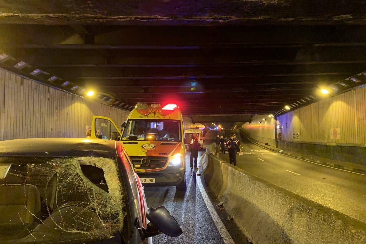 Muere un motorista de 36 años en el túnel de Doctor Esquerdo