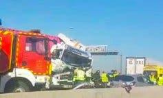 Tres heridos en un accidente en la A-2, en Alcalá de Henares
