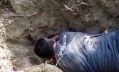 Los Bomberos rescatan a una perra atrapada durante dos horas en una madriguera en Majadahonda