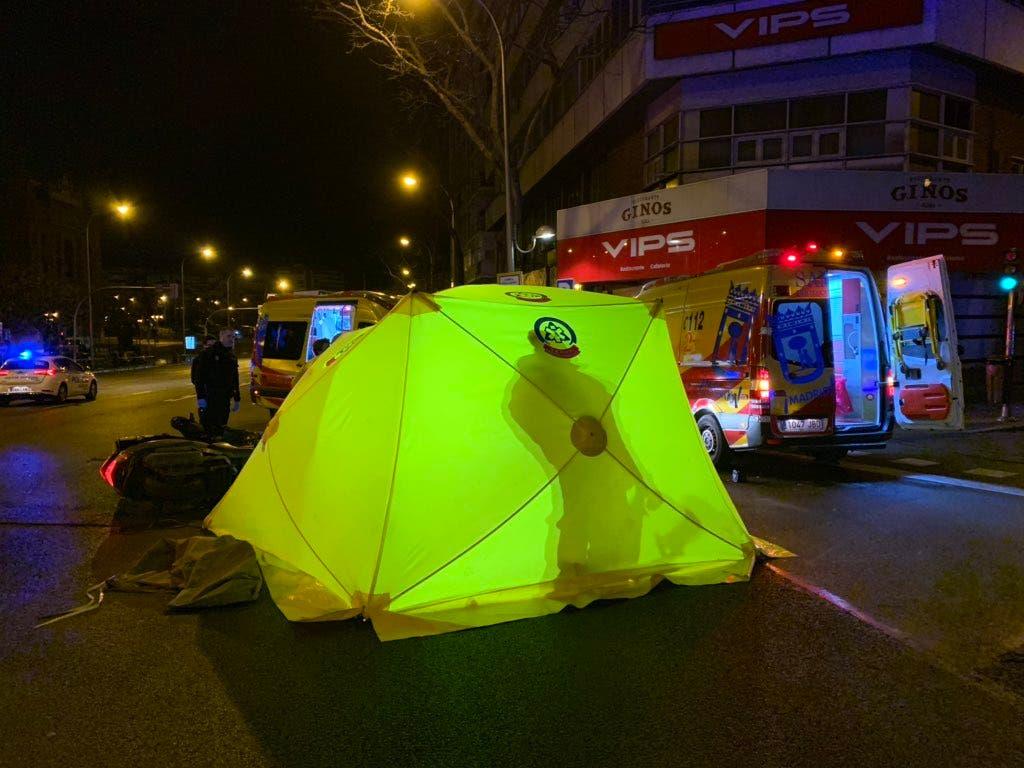 Detenido un conductor a la fuga implicado en un accidente mortal en Madrid