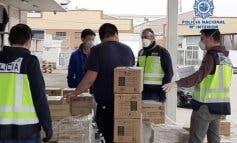 Intervienien en Cobo Calleja y Usera 19.600 mascarillas,498.000 guantes de nitrilo, 12.880 botellas de desinfectante...